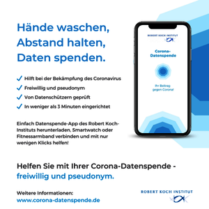 Grafik Corona-Datenspende-App des Robert Koch-Instituts